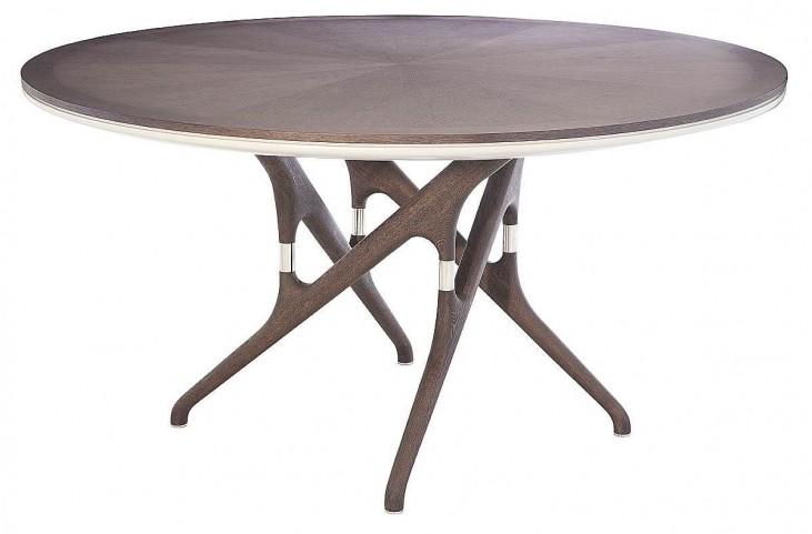 Xena Banyan Matte Light Grey Round Pedestal Dining Table