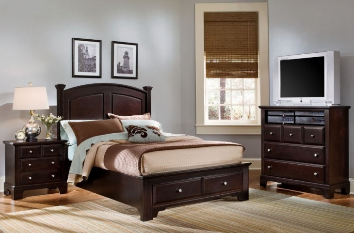 Hamilton/Franklin Merlot Panel Storage Bedroom Set
