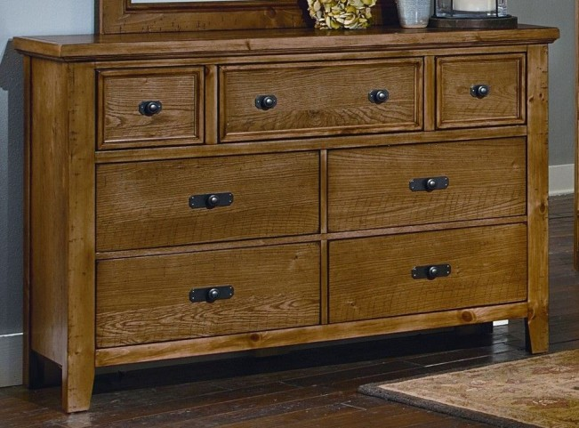 Timber Mill Oak 7 Drawer Dresser