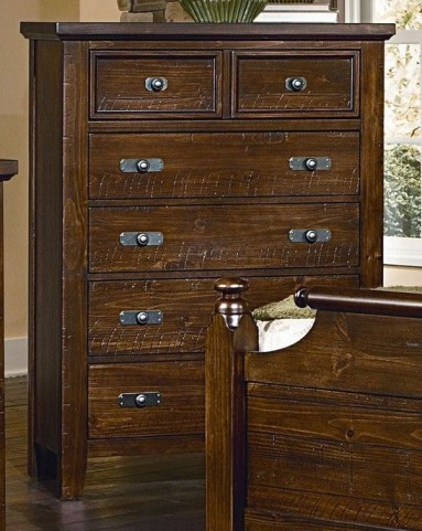 Timber Mill Pine 5 Drawer Chest