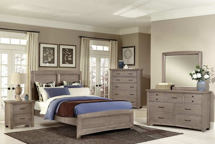 Transitions Driftwood Oak Panel Bedroom Set