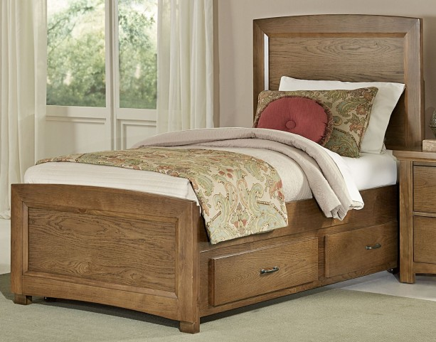 Transitions Dark Oak Twin Two Side Storage Panel Bed