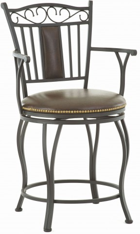Barbara Jumbo Bonded Leather Swivel Counter Chair
