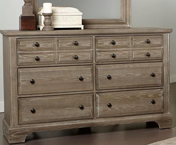 Bedford Washed Oak 6 Drawer Dresser