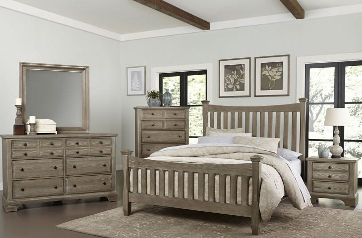 Bedford Washed Oak Poster Bedroom Set
