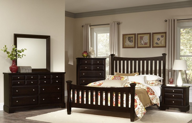 Bedford Merlot Poster Bedroom Set