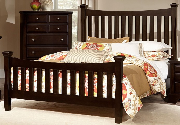 Bedford Merlot Queen Poster Bed