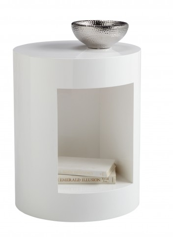 Beacon White End Table