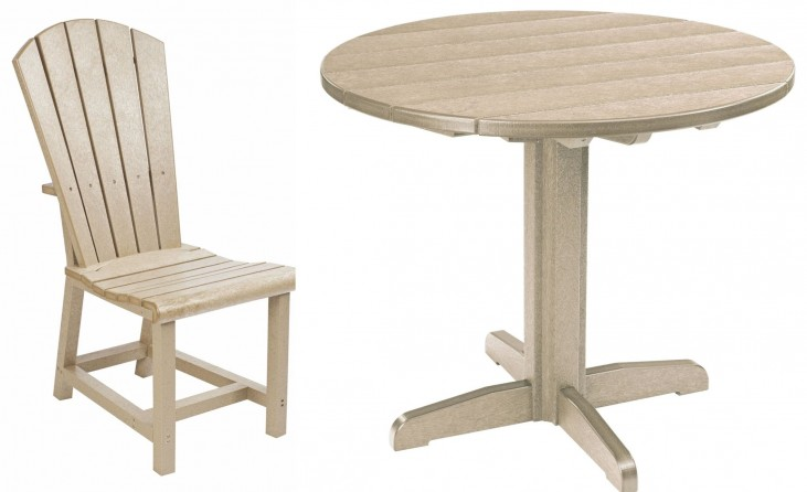 "Generations Beige 37"" Round Pedestal Dining Room Set"