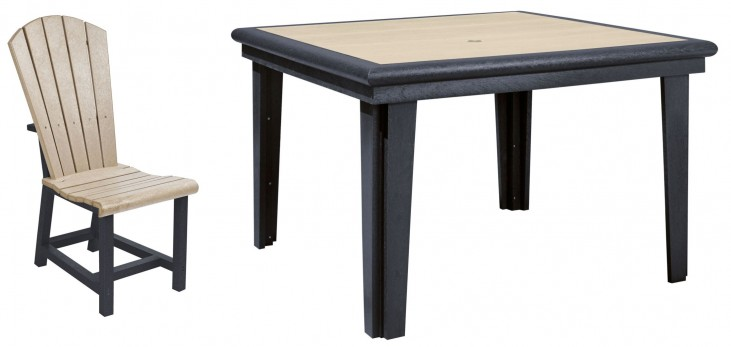 "Generations Beige/Black 46"" Square Dining Room Set"