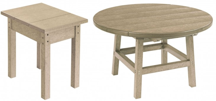"Generations Beige 32"" Round Occasional Table Set"