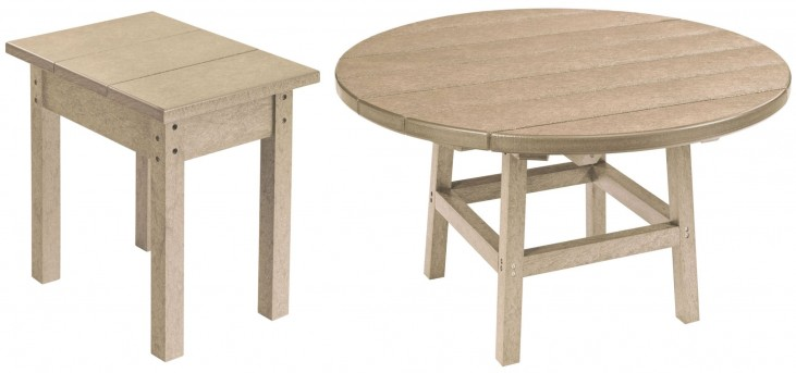 "Generations Beige 37"" Round Occasional Table Set"