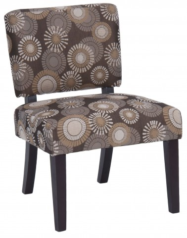Bella Brown Blast Accent Chair