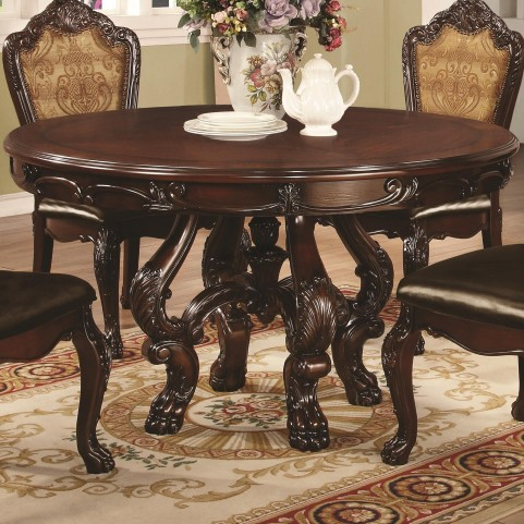 Abigail Cherry Round Pedestal Dining Table