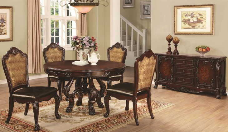 Abigail Cherry Round Pedestal Dining Room Set
