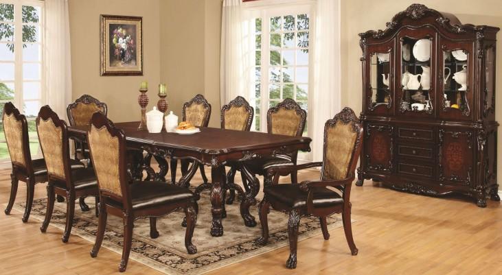 Abigail Cherry Rectangular Double Pedestal Dining Room Set