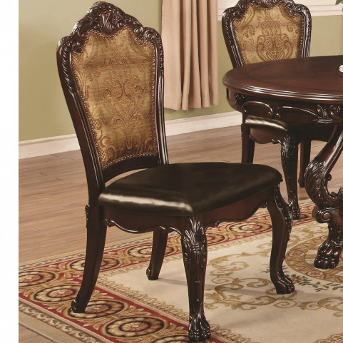 Abigail Cherry Upholstered Dining Side Chair Set of 2