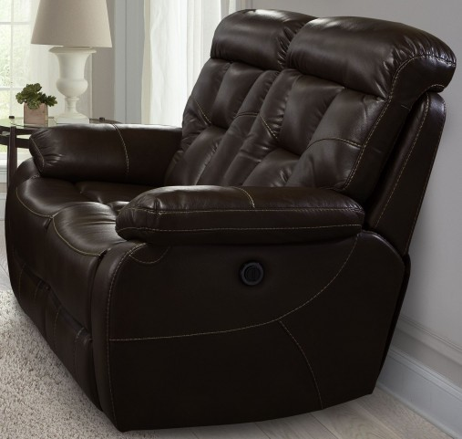 Berlin Walnut Dual Power Reclining Loveseat