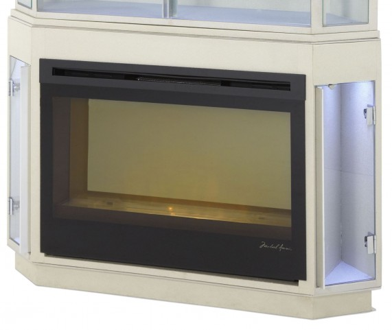 Beverly Boulevard Pearl Caviar Fireplace With Electric Insert