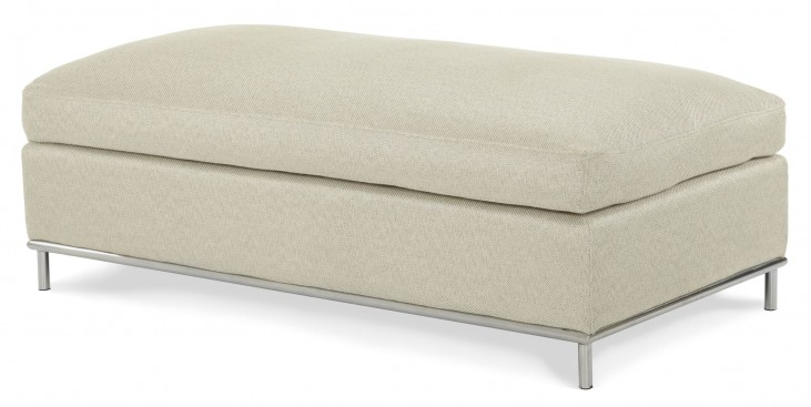 Beverly Boulevard Stainless Steel Double Ottoman
