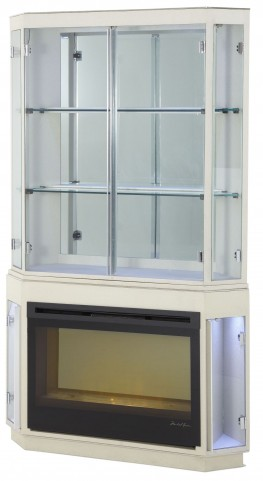 Beverly Boulevard Pearl Caviar Curio with Fireplace