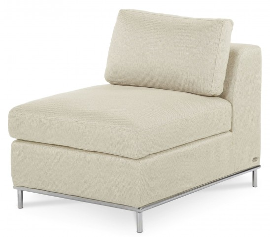 Beverly Boulevard Stainless Steel Armless Seat