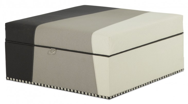 Beverly Boulevard Square Storage Ottoman
