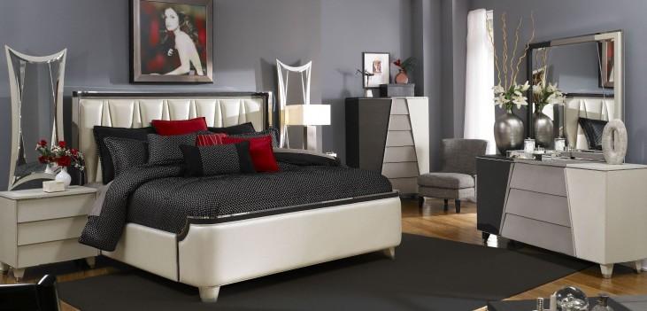 Beverly Boulevard Pearl Upholstered Bedroom Set