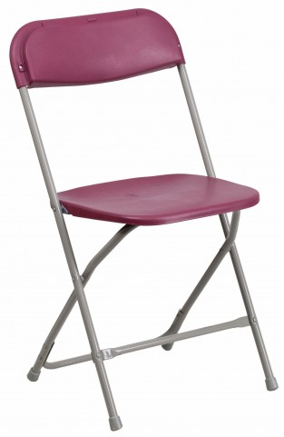 Hercules Series Premium Burgundy Plastic Folding Chair