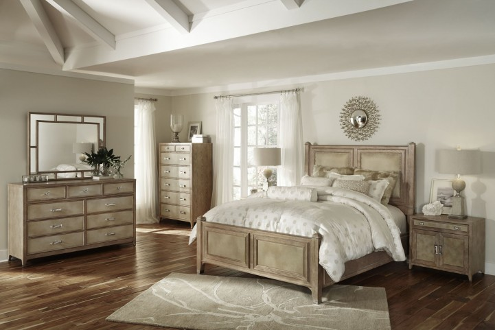 Biscayne West Sand Panel Bedroom Set