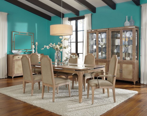 Biscayne West Sand Extendable Dining Room Set