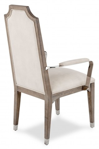Biscayne West Haze Arm Chair with Stainless Steel Arm