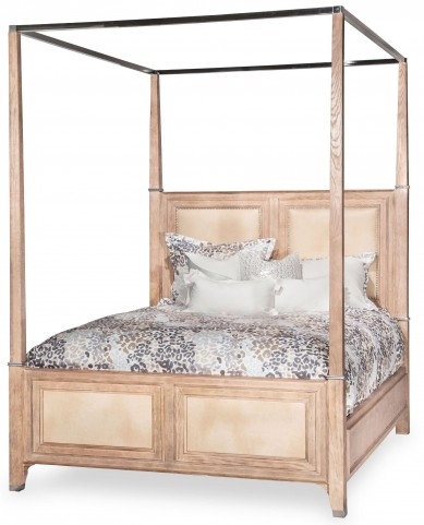 Biscayne West Sand Queen Poster Bed