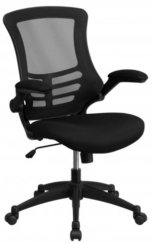 1000170 Mid-Back Black Chair