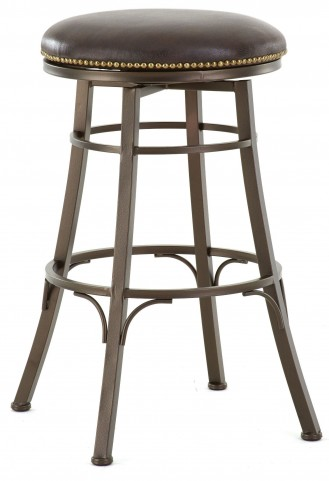 Bali Bonded Leather Backless Swivel Bar Stool