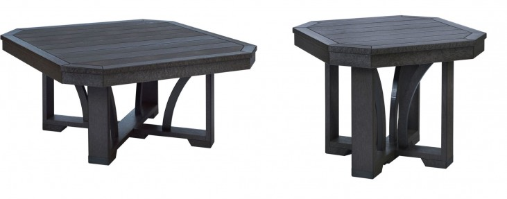 "St Tropez Black 35"" Occasional Table Set"