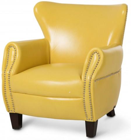 Studio Bladen Lemon Yellow Leather Chair