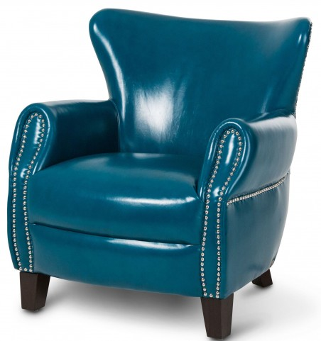 Studio Bladen Teal Blue Leather Chair