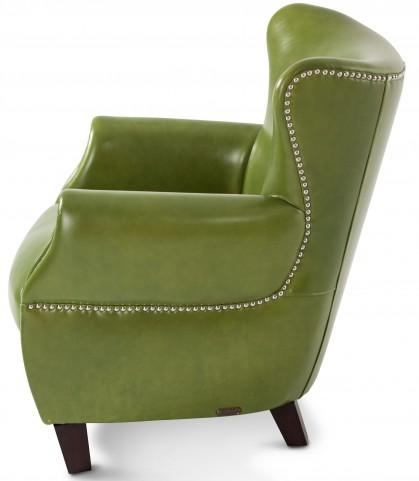 Studio Bladen Pistachio Green Leather Chair
