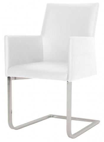 Regis Bo White Chrome Dining Chair