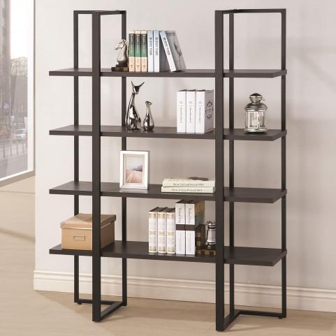 801035 Dark Cappuccino 5 Shleves Bookcase
