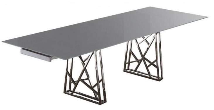 Borg Dark Gray Extendable Dining Table