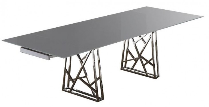Borg Gray Extendable Dining Table