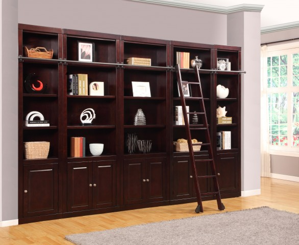 Boston 5 Piece Library Wall Unit