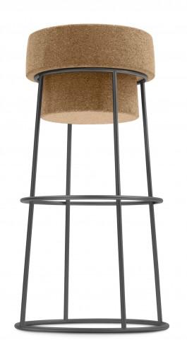 Bouchon Cork Graphite Frame Barstool
