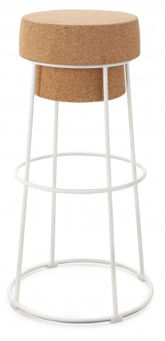 Bouchon Cork Lacquered Steel Barstool