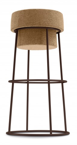 Bouchon Cork Barstool with Bronze Frame