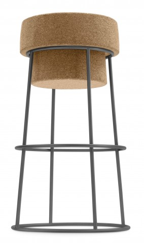 Bouchon Cork Graphite Frame Counter Stool