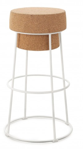 Bouchon Cork Lacquered Steel Counter Stool
