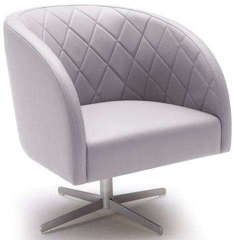Boulevard Grey Swivel Arm Chair